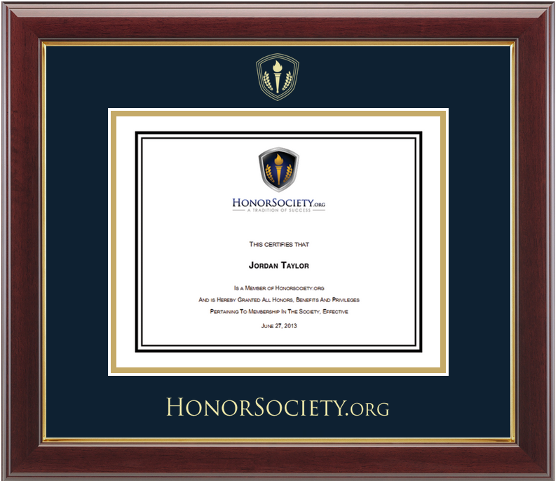 Certificate and Frames | Honor Society