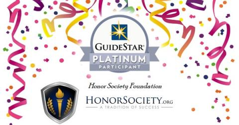 Honor Society Foundation Earned a 2019 Platinum Seal of Transparency