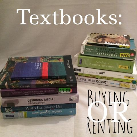 Textbooks: Buying or Renting?