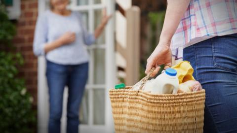 College Students Helping Seniors: Shopping Angels