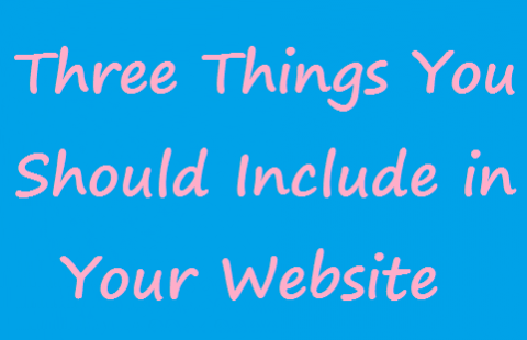 Three Things You Should Include in Your Personal Website