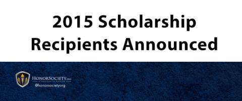 2015 HonorSociety.org Scholarship Winners Announced