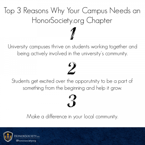 Top 3 Reasons Why Your Campus Needs an HonorSociety.org Chapter | Honor Society