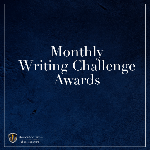 Monthly Writing Challenge Awards